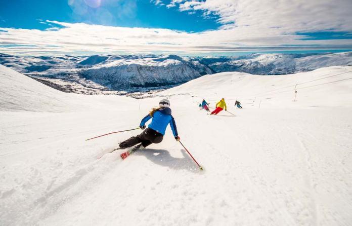 Las mejores pistas de esquí en Noruega.