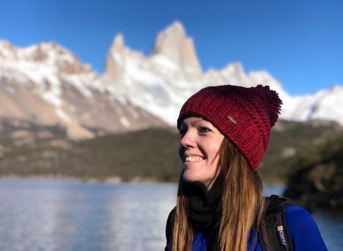 Rebeca Serna de Viajeros 3.0 en El Chaltén, Argentina.
