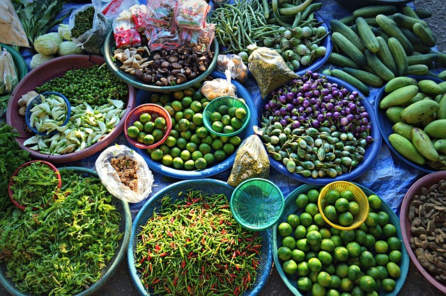 verduras y frutas mercado - comida tailandesa