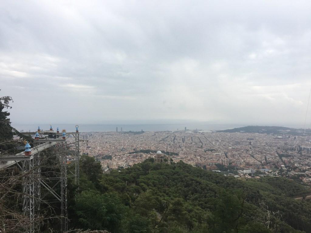 Mirador de Barcelona en el Tibidabo.