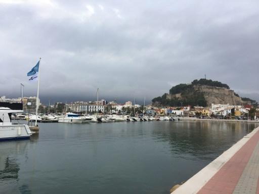 Puerto de Denia de camino hacía el Ferry