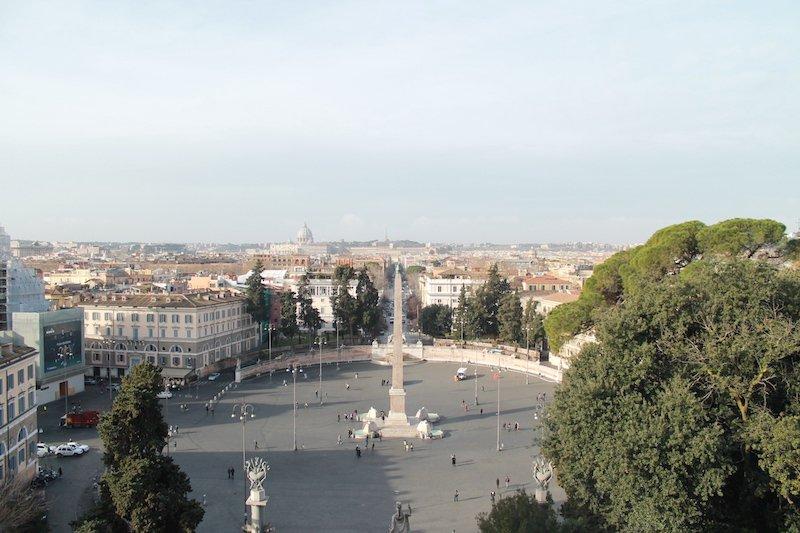 plaza popolo vistas en roma