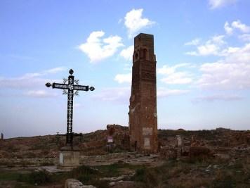 Belchite torre del reloj