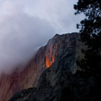 Fantástica catarata de fuego en Yosemite – Cola de Caballo