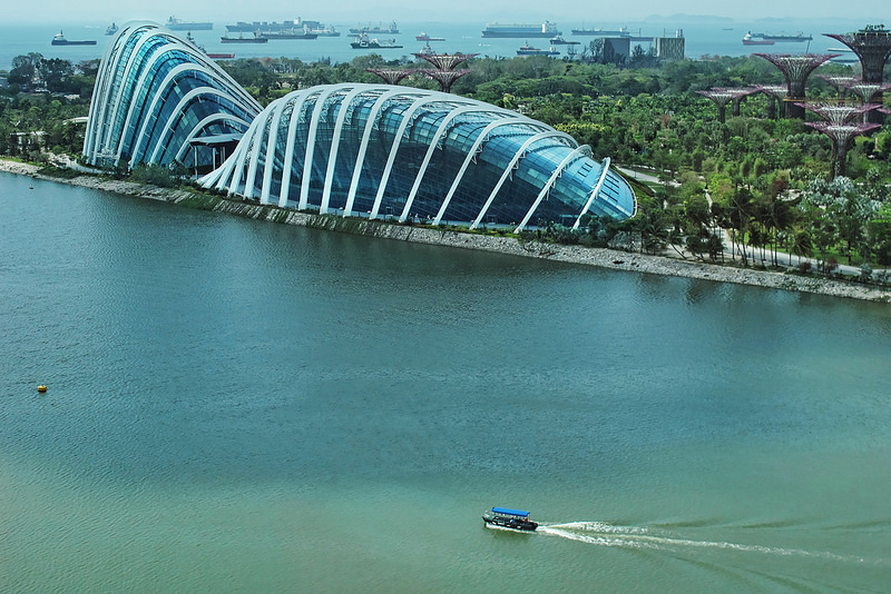 Gardens by the Bay – another view from The Singapore Flyer