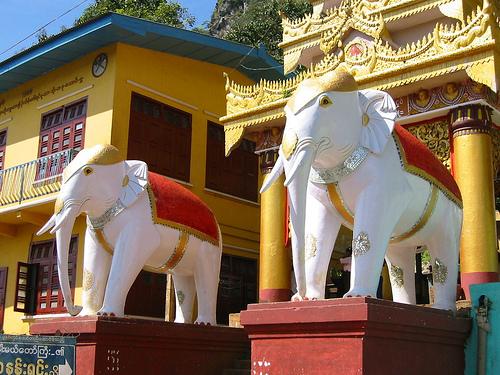 Entrance To Buddhist Monastery, Taung Kalat, Near Mount Popa