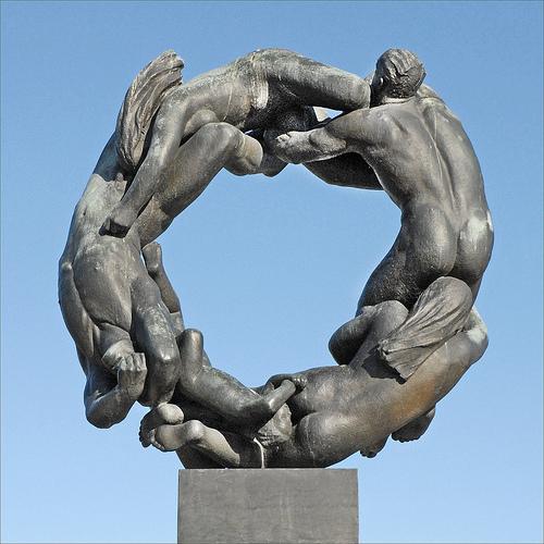 La rueda de la vida por de Gustav Vigeland