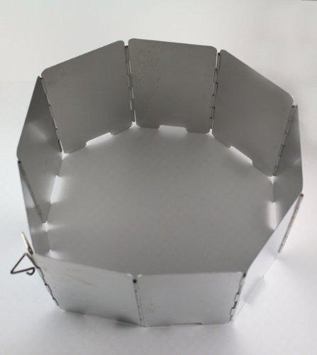 Gearmax® 9 Placas Pantallas de viento parabrisas Estufa De Gas Cabañas Cocina aleación De Aluminio plegable para Camping campamento picnic 1