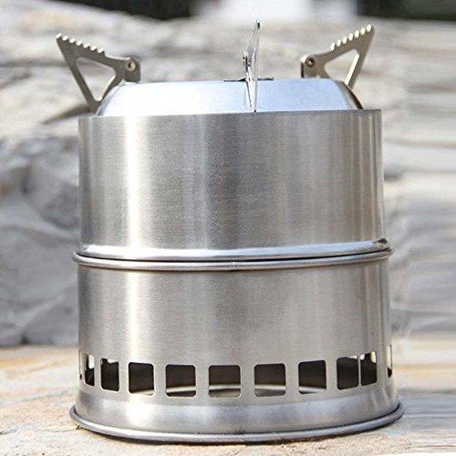 Gearmax® Portátil acero Inoxidable Peso Ligero madera estufa solidificado Hornillo de alcohol Cocina al aire libre Picnic BBQ campamento 3