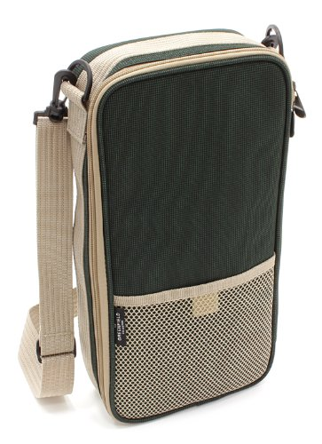 Greenfield Collection Luxury Flask Hamper Bag for 2-People, Forest Green 1