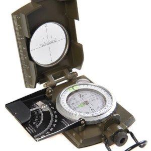 Huntington MG-XL: Brújula Militar Lensatic de primera calidad y con carcasa metálica de tamaño XL - Novedad: inclinómetro en grados y porcentaje, profesionalmente líquido-humedecida, verde militar, (K4074 DE) 13