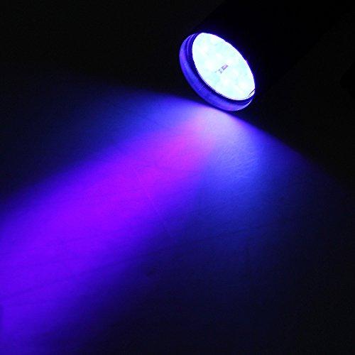 LINTERNA ANTROCHA de 9 LED LAMPARA Luz UV ULTRAVIOLETA 2