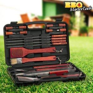 BBQ Master Tools - Maletin para barbacoas, color negro, (18 piezas) 13