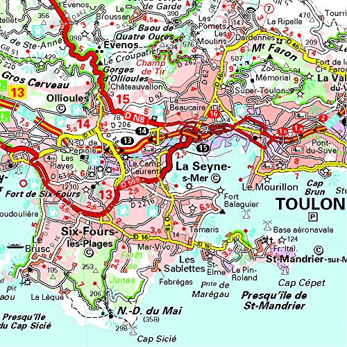 Provence French Riviera 527 Maps/Regional Michelin (English and French Edition) 1