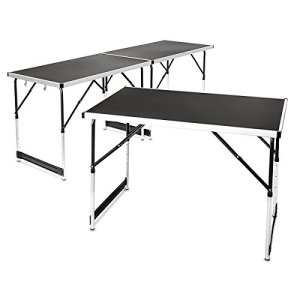 Relaxdays Multi-Purpose Aluminium Folding Tables Set Of 3 Adjustable Height Can be Combined into 3 m Table 11