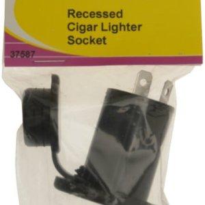 W4 - Encendedor de coche empotrable, color negro 4