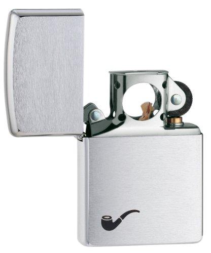 Zippo Pipe Lighter Brushed Chrome - Mechero, color cromo cepillado 3