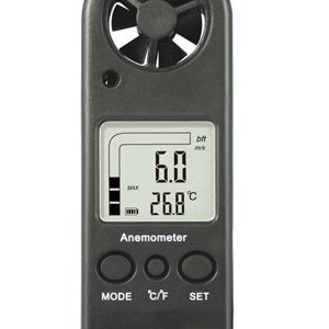 Handheld Anemometer Wind Speed Meter with Temperature Measurement, Lanyard & Carry Case 1