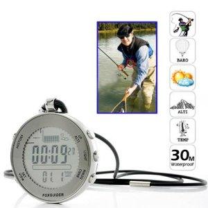 Profesional 30M Impermeable Digital De Bolsillo Barómetro De Pesca Con La Alarma Meteorológica Previsión / Tormenta 2