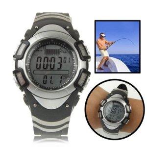 Reloj Barómetro De Pesca Digital Con Display Gráfico De Termómetro / Pronóstico Altímetro / Tendencia / Presión / 30M Alarma Impermeable / Tormenta 3