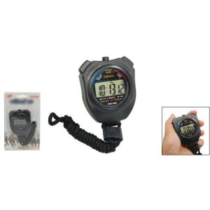 SODIAL(R) Digital Chronograph Sports Stopwatch with Neck Strap 7