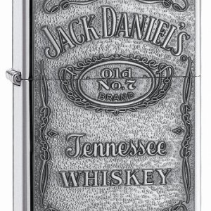 Zippo Jack Daniel's Tennessee Whiskey Emblem Pocket Lighter, High Polish Chrome 12