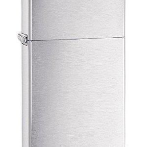 Zippo Brushed Chrome Slim Pocket Lighter 10