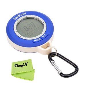 Ckeyin ® Mini LCD digital multifunción altímetro barómetro compás termómetro pronóstico del tiempo y Tiempo de visualización 3