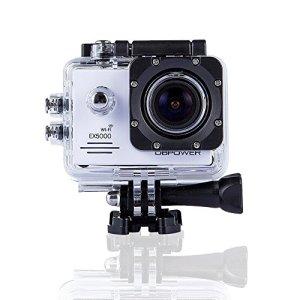 DBPOWER® Cámara original Sport Action a prueba de agua EX5000 WIFI 14MP FHD con 2 baterías mejoradas y accesorios 6