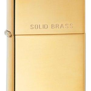 Zippo HP Brass w/ Solid Brass Engraved - 254 6