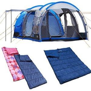 4 - 1 tienda Camping hombre smartphonez/1dbl + 2 sgl sacos de dormir 4