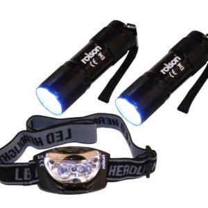 Rolson 61762 9-LED Torch and 3-LED Head Light Set (3 Pieces) 13
