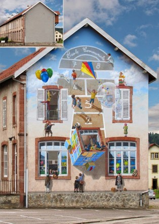 Fake Facades Patrick Commecy's Clever Street Art