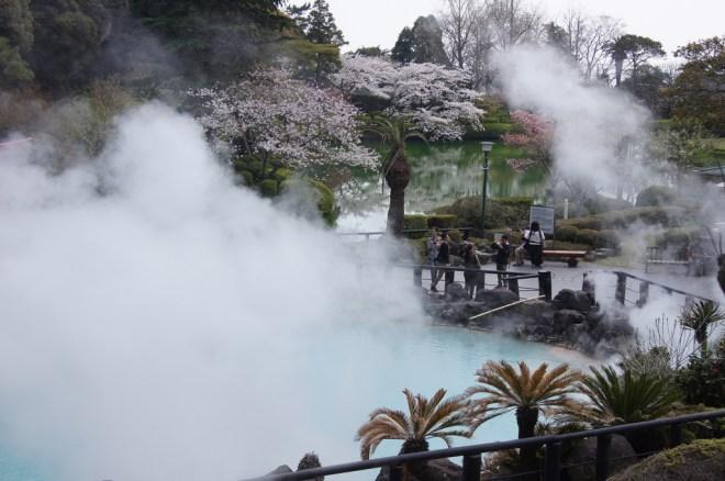 Las humeantes aguas termales de Beppu