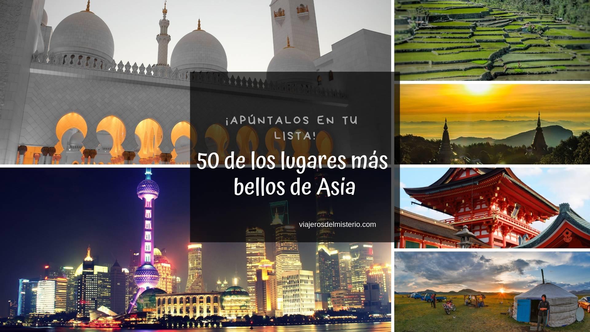 50 de los lugares más bellos de Asia