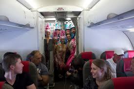 carnaval en el avión