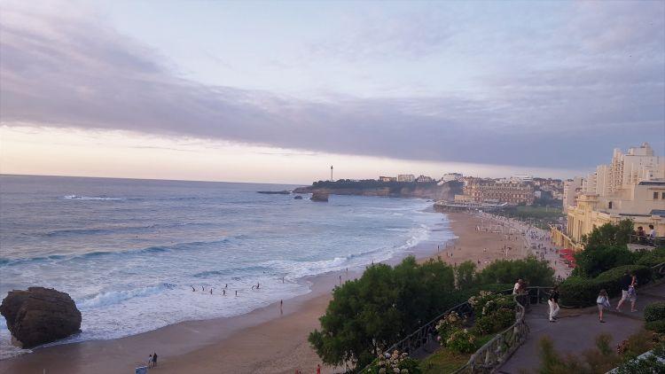 Playa de Biarritz en el Cantábrico