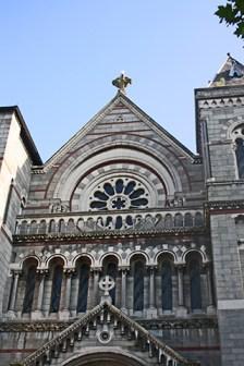 Fachada gótica Iglesia St Anns siglo XVIII Dublín