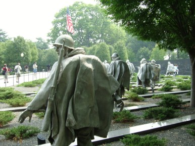Monumento veteranos Guerra Korea Washington