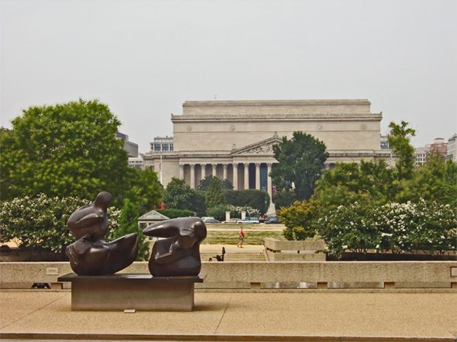 Escultura fachada Museo Nacional de Arte Washington D.C. Estados Unidos