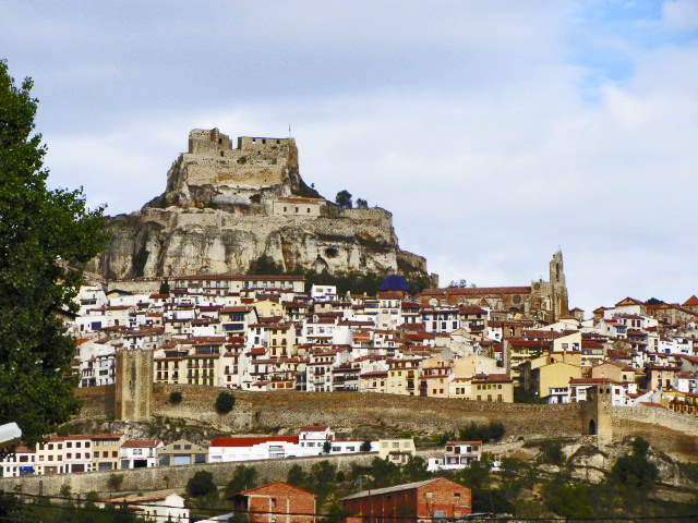 Panorámica castillo Morella centro histrórico