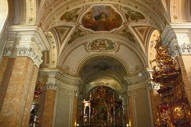 Cúpula frescos Abadía de Tihany barroco