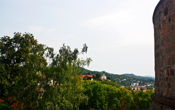 Vistas Esztergom iglesia murallas Hungría