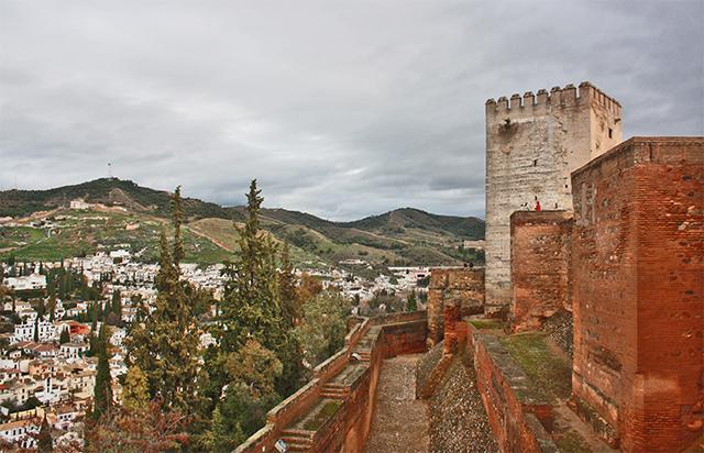Panorámica Albaycín Sacromonte muros Alhambra Granada