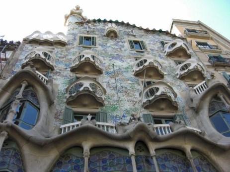 Fachada Modernismo Casa Batlló Gaudí Barcelona