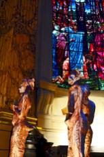 Vidriera esculturas Catedral St Phillips Birmingham