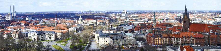 Panorámica skyline ciudad Hannover Alemania
