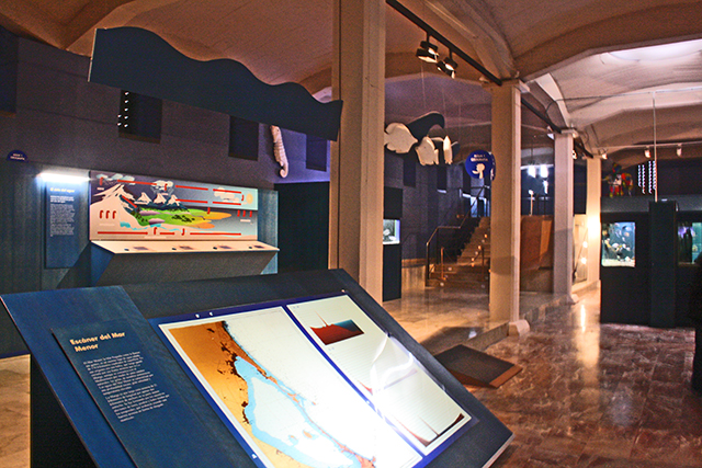 Sala exposición Museo de la Ciencia y del Agua Murcia