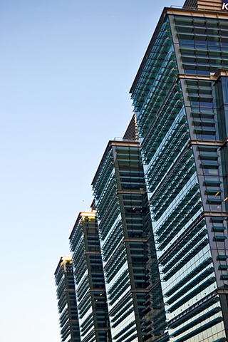 Rascacielos hilera arquitectura vanguardia Snow Hill Birmingham