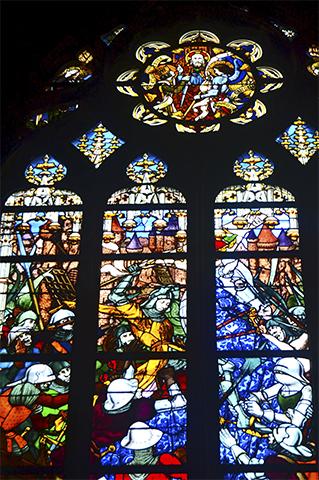 Vidrieras color Catedral Ste. Croix Orleans